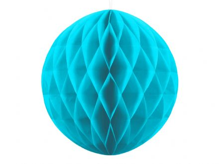 Turquoise Honeycomb Ball Decoration - 30cm